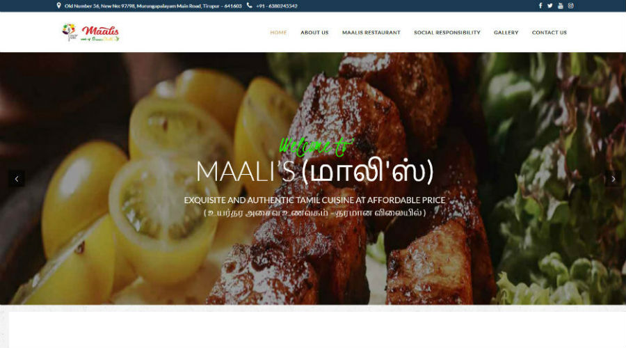 Maali's restaurant – A part of Green Chilli's restaurant group